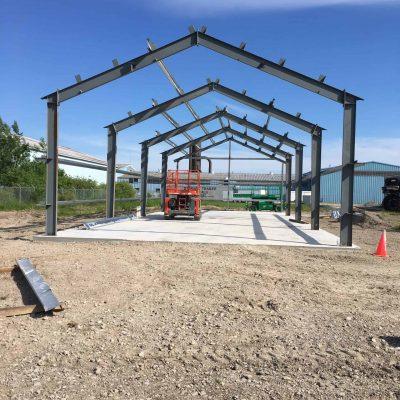 new steel building